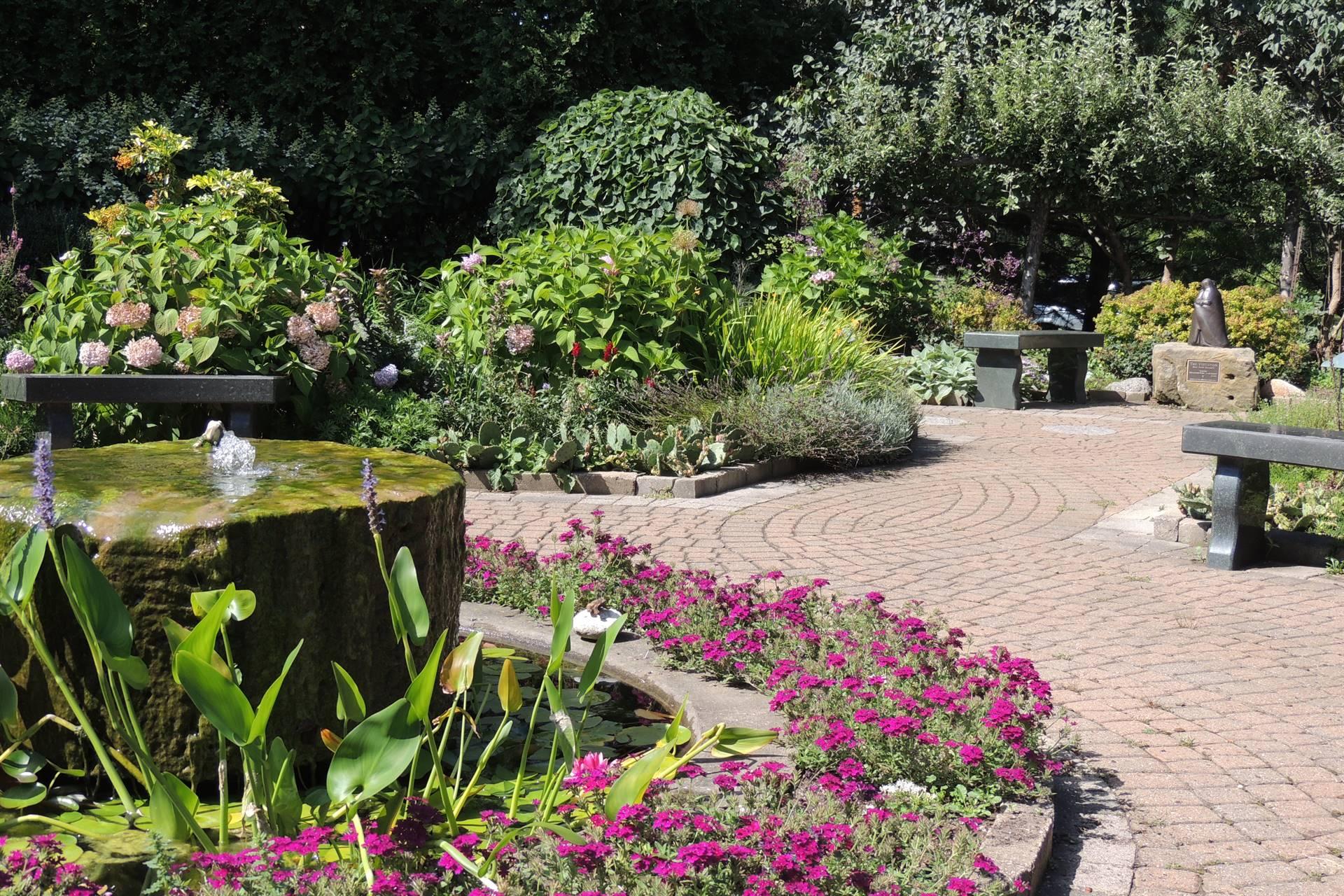 Garden of Life Fountain and walkway