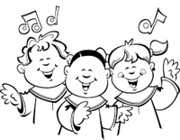 children singing